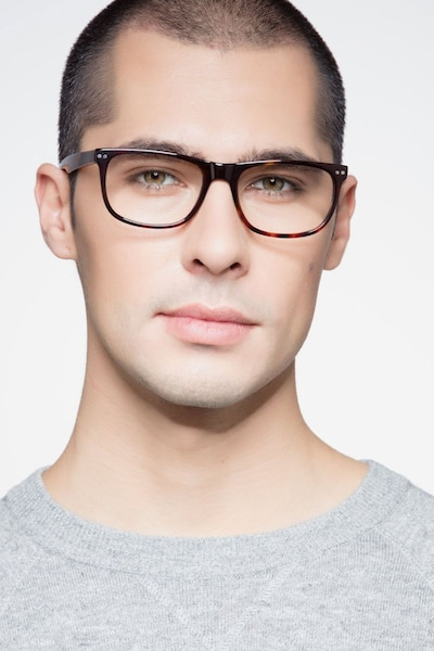 Koi Tortoise Acetate Eyeglass Frames for Men from EyeBuyDirect, Front View