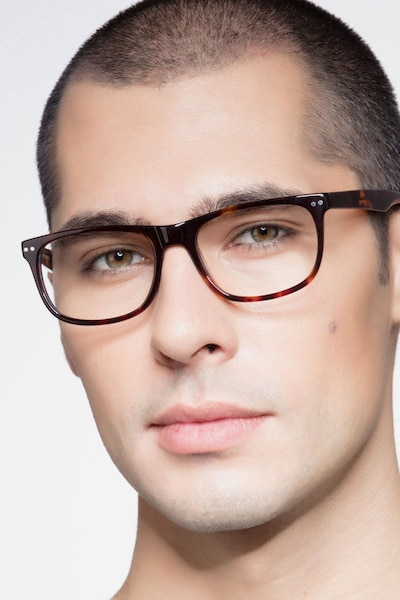 Koi Tortoise Acetate Eyeglass Frames for Men from EyeBuyDirect
