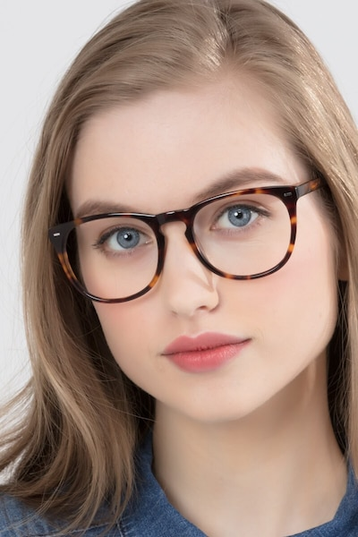 Divina Tortoise Acetate Eyeglass Frames for Women from EyeBuyDirect