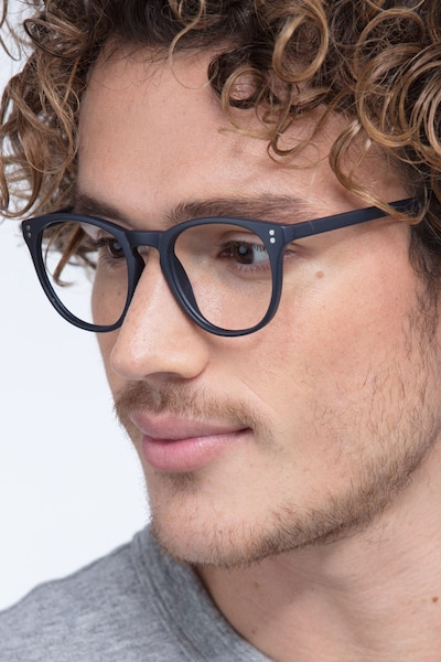 Legendary Navy Plastic Eyeglass Frames for Men from EyeBuyDirect