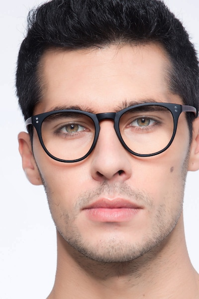 Legendary Black & Brown Plastic Eyeglass Frames for Men from EyeBuyDirect