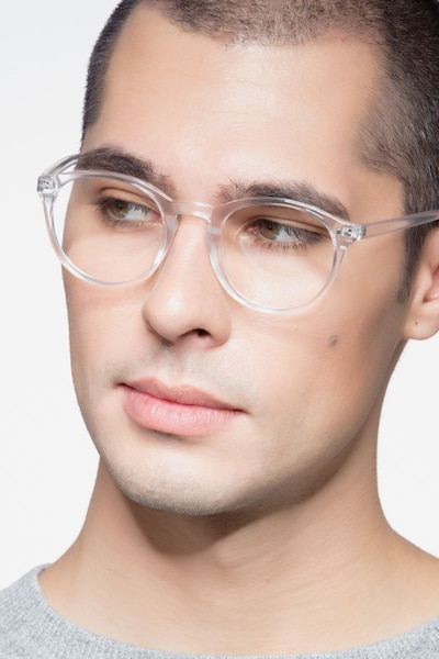 Revolution Clear Plastic Eyeglass Frames for Men from EyeBuyDirect