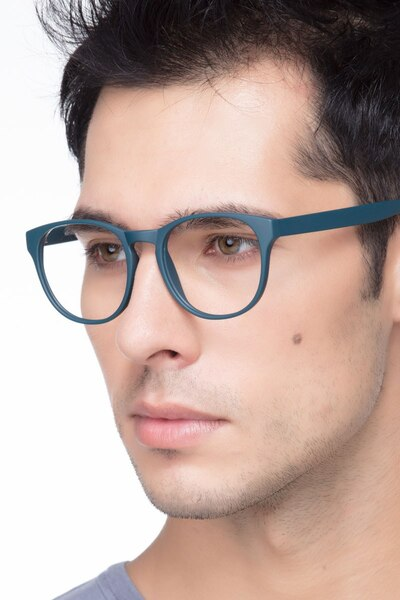Heartbeat Matte Green Plastic Eyeglass Frames for Men from EyeBuyDirect