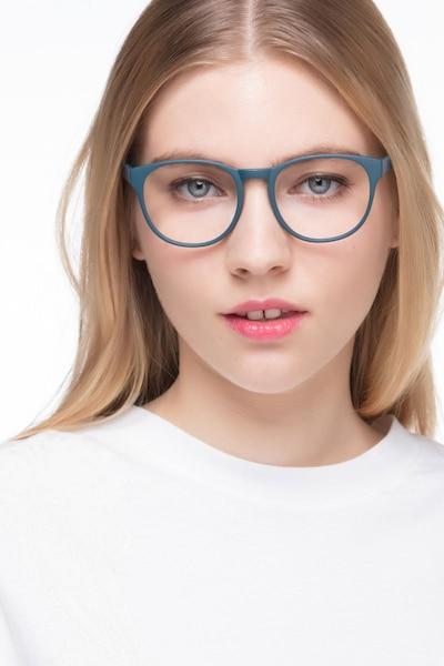 Heartbeat Matte Green Plastic Eyeglass Frames for Women from EyeBuyDirect