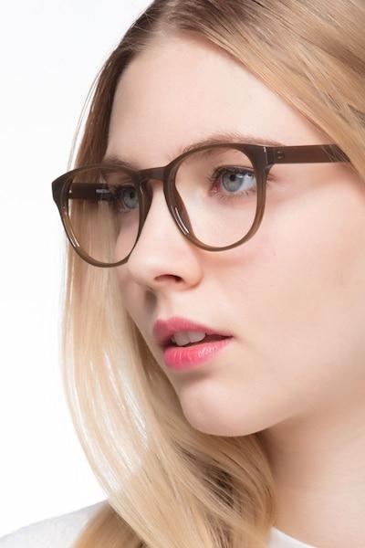 Heartbeat Dark Brown Plastic Eyeglass Frames for Women from EyeBuyDirect