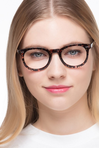 Solar Black Floral Plastic Eyeglass Frames for Women from EyeBuyDirect