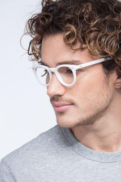 Solar Matte White Plastique Montures de Lunettes pour Hommes d'EyeBuyDirect