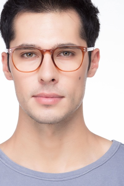 Myth Cola Plastic Eyeglass Frames for Men from EyeBuyDirect, Front View