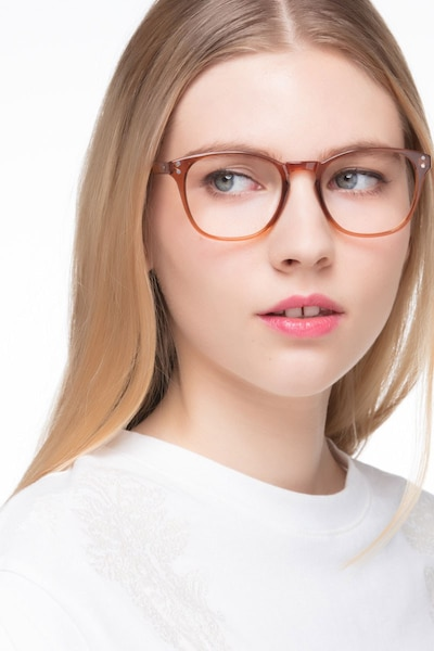 Myth Cola Plastic Eyeglass Frames for Women from EyeBuyDirect, Front View