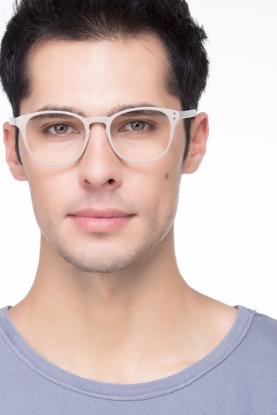 Myth Tan Plastic Eyeglass Frames for Men from EyeBuyDirect, Front View