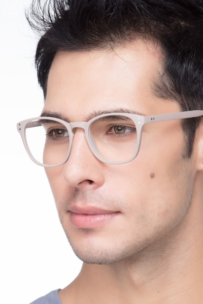 Myth Tan Plastic Eyeglass Frames for Men from EyeBuyDirect