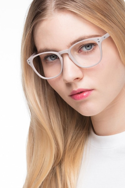 Myth Tan Plastic Eyeglass Frames for Women from EyeBuyDirect, Front View