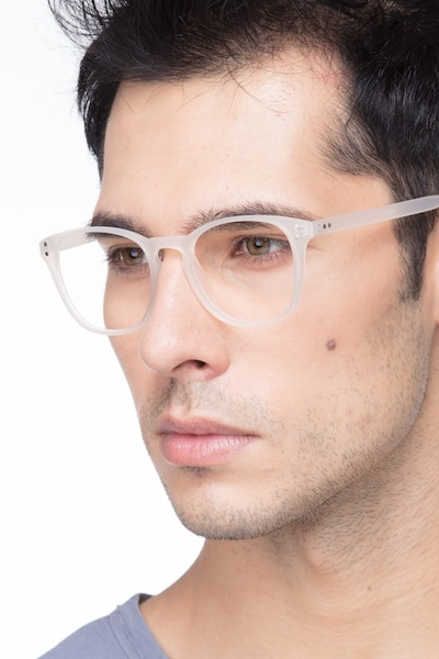 Myth Matte White Plastic Eyeglass Frames for Men from EyeBuyDirect