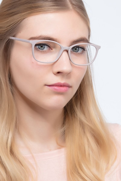 Glider Gray Plastic Eyeglass Frames for Women from EyeBuyDirect, Front View
