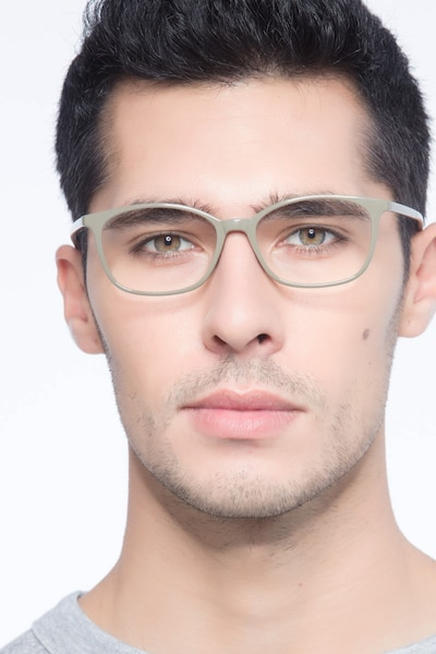 Glider Olive Green Plastic Eyeglass Frames for Men from EyeBuyDirect
