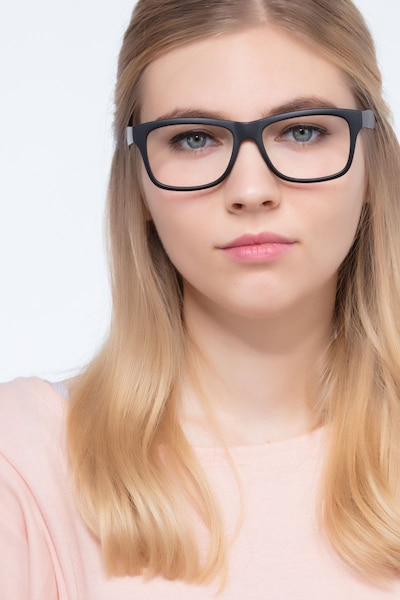 Gamble Matte Black Plastic Eyeglass Frames for Women from EyeBuyDirect