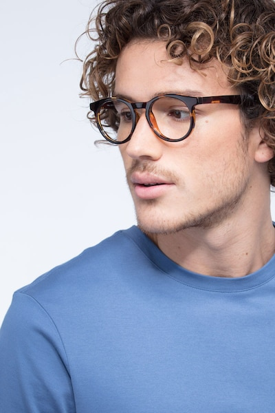 Thrill Tortoise Plastic Eyeglass Frames for Men from EyeBuyDirect, Front View