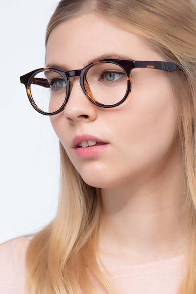 Thrill Tortoise Plastic Eyeglass Frames for Women from EyeBuyDirect, Front View