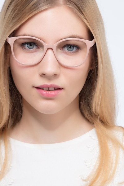 e04cedede2a The Beat Light Pink Plastic Eyeglass Frames for Women from EyeBuyDirect