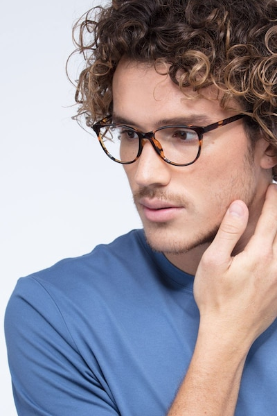 Release Tortoise Plastic Eyeglass Frames for Men from EyeBuyDirect, Front View
