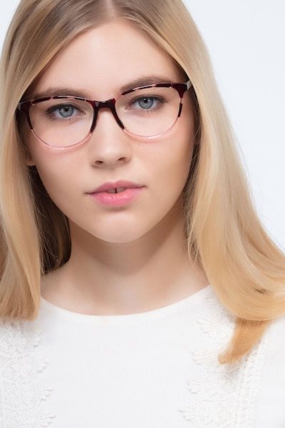 Release Floral Plastic Eyeglass Frames for Women from EyeBuyDirect, Front View