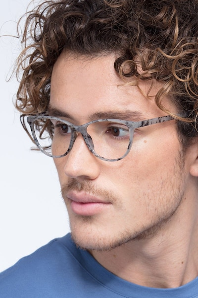 Release Speckled Gray Plastic Eyeglass Frames for Men from EyeBuyDirect