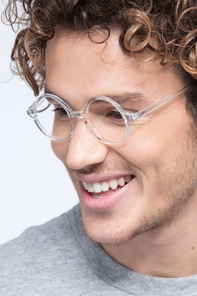 Years Clear Plastic Eyeglass Frames for Men from EyeBuyDirect