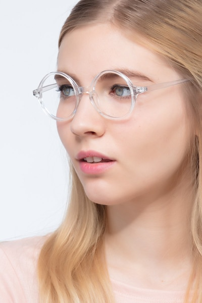 Years Clear Plastic Eyeglass Frames for Women from EyeBuyDirect, Front View
