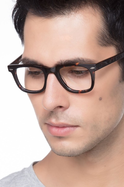 Blizzard Dark Tortoise Acetate Eyeglass Frames for Men from EyeBuyDirect