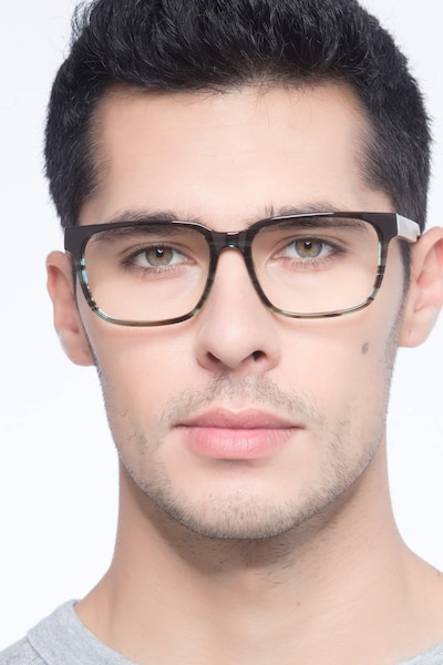Belmont Coffee Acetate Eyeglass Frames for Men from EyeBuyDirect