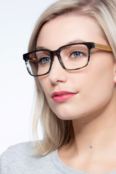 Belmont Coffee Acetate Eyeglass Frames for Women from EyeBuyDirect