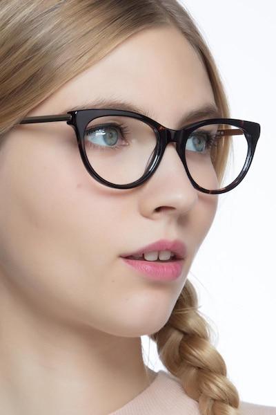 Her Tortoise Acetate Eyeglass Frames for Women from EyeBuyDirect