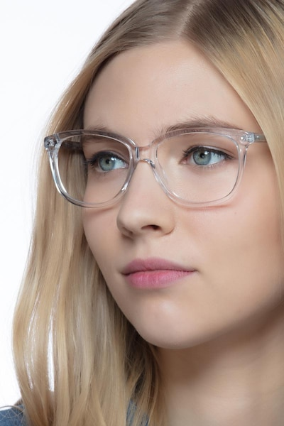 Escape Clear Acetate Eyeglass Frames for Women from EyeBuyDirect
