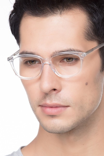 Escape Clear Acetate Eyeglass Frames for Men from EyeBuyDirect