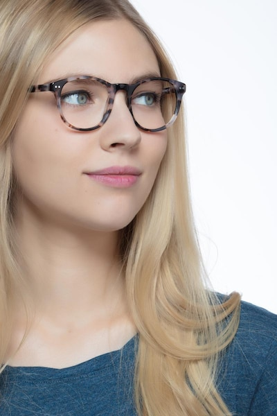 Primrose Ivory Tortoise Acetate Eyeglass Frames for Women from EyeBuyDirect, Front View