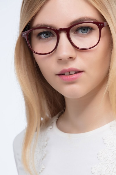 Instant Crush Red Plastic Eyeglass Frames for Women from EyeBuyDirect