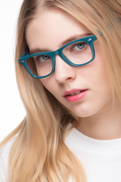Atlee Green Plastic Eyeglass Frames for Women from EyeBuyDirect