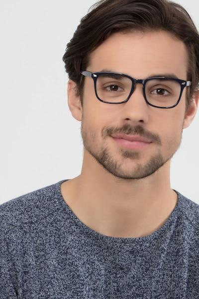 Uptown Navy Plastic Eyeglass Frames for Men from EyeBuyDirect