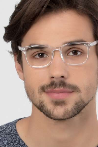 Uptown Clear Plastic Eyeglass Frames for Men from EyeBuyDirect