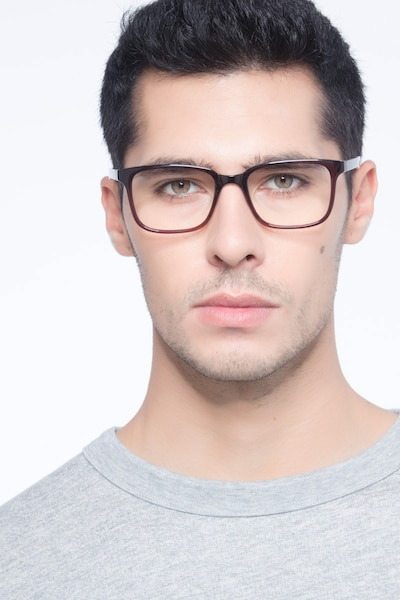 November Brown Plastic Eyeglass Frames for Men from EyeBuyDirect