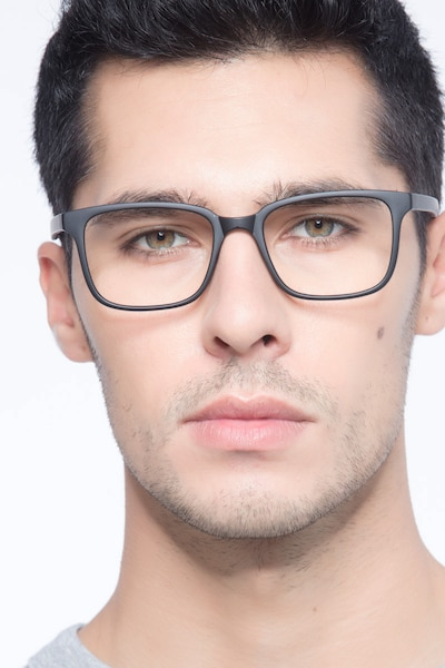 November Matte Black Plastic Eyeglass Frames for Men from EyeBuyDirect