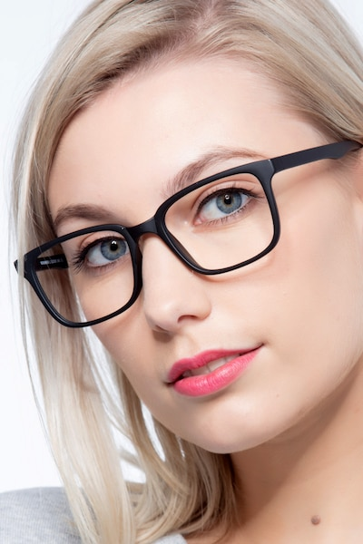 November Matte Black Plastic Eyeglass Frames for Women from EyeBuyDirect