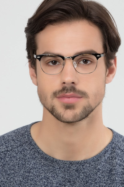 Coexist Striped Metal Eyeglass Frames for Men from EyeBuyDirect