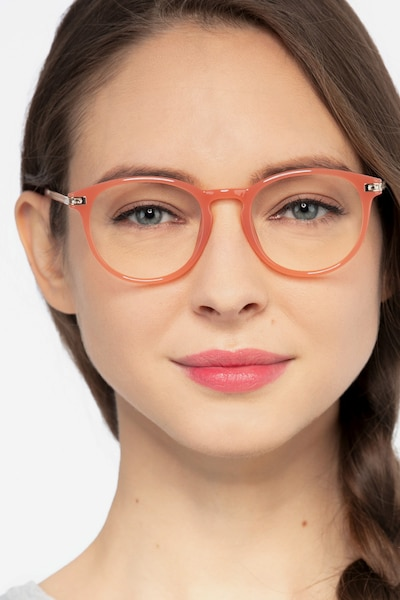 Daphne Pink Plastic Eyeglass Frames for Women from EyeBuyDirect