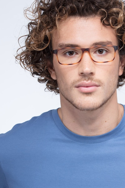 Firefly Tortoise Plastic Eyeglass Frames for Men from EyeBuyDirect, Front View