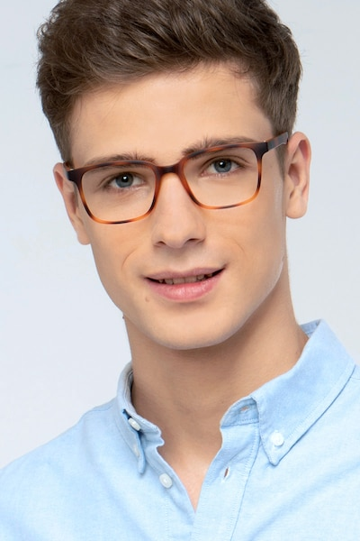 November Tortoise Plastic Eyeglass Frames for Men from EyeBuyDirect, Front View