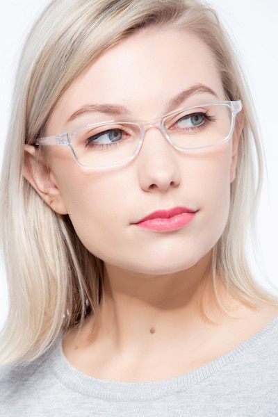 Versus Clear Plastic Eyeglass Frames for Women from EyeBuyDirect, Front View