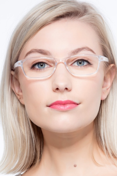 Versus Clear Plastic Eyeglass Frames for Women from EyeBuyDirect