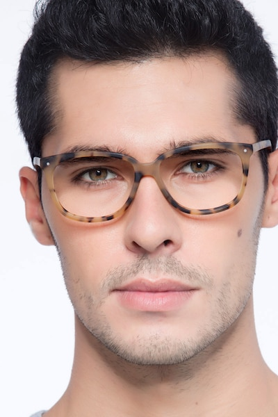 Escape Matte Tortoise Acetate Eyeglass Frames for Men from EyeBuyDirect