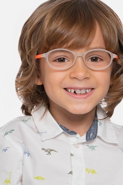 Skipper Matte Clear Plastic Eyeglass Frames for Men from EyeBuyDirect, Front View